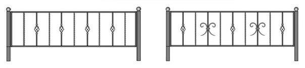 Ритуальные оградки и кресты 1