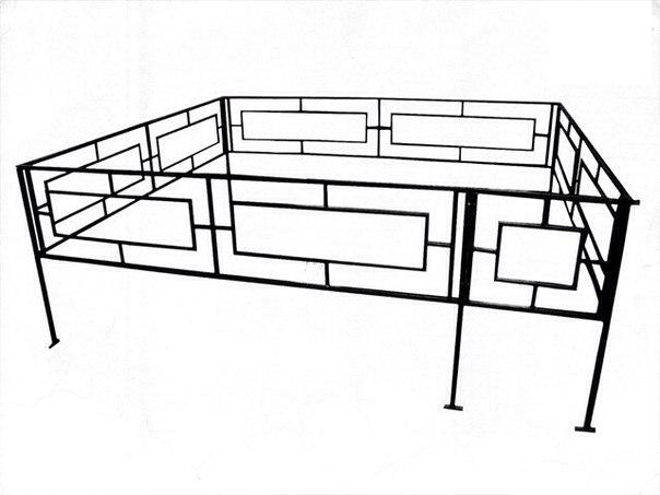 Ритуальные оградки и кресты 2