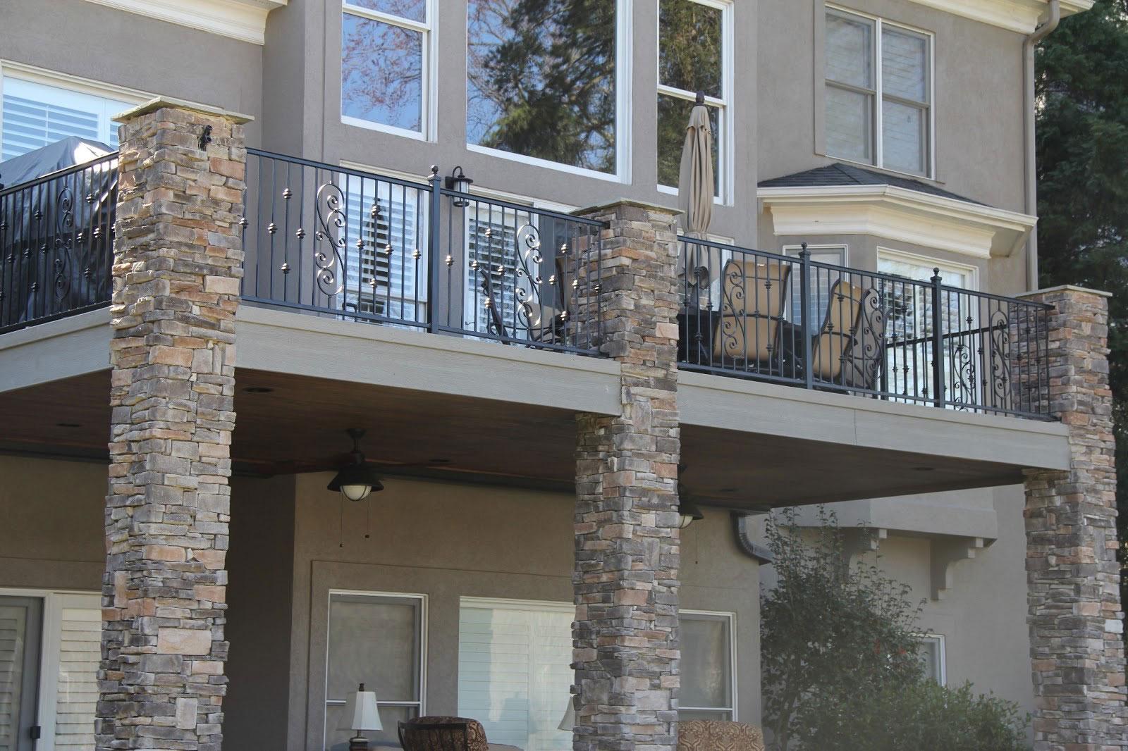 Ограждение для балкона современное