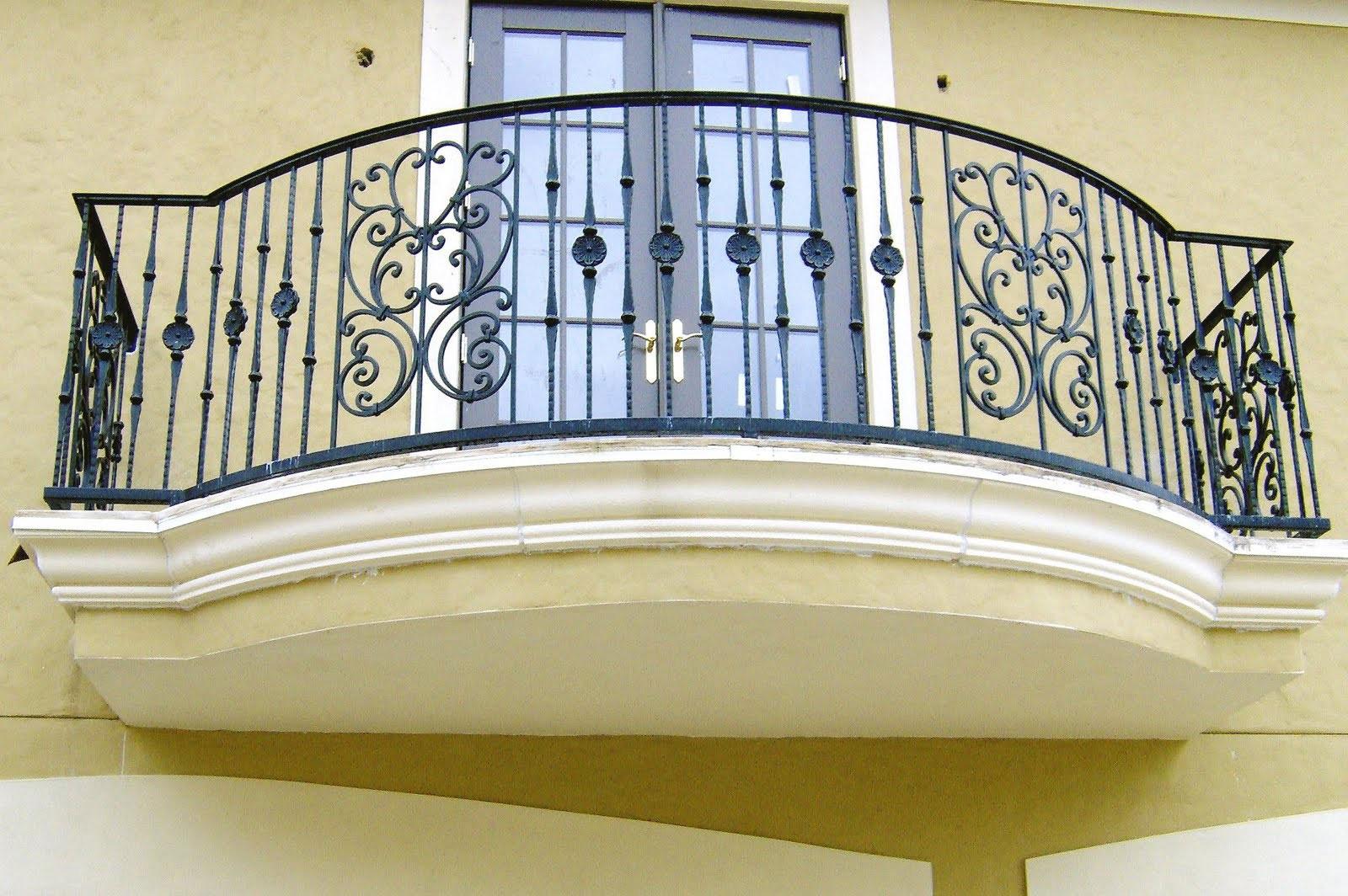 Ограждение для балкона белое